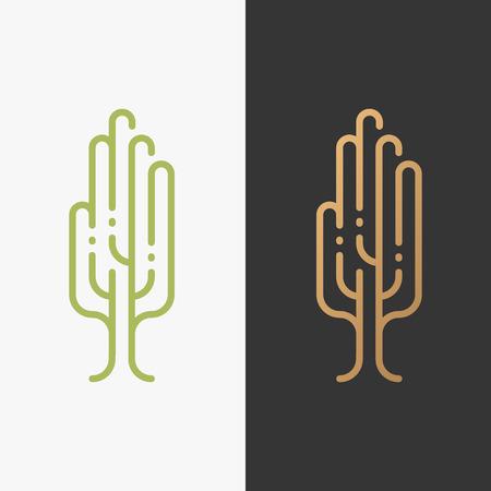humanismo: Símbolo Eco, la palma en forma de árbol. Logo Bio, señal ambiental. La humanidad y la protección de la ecología logotipo. Vectores