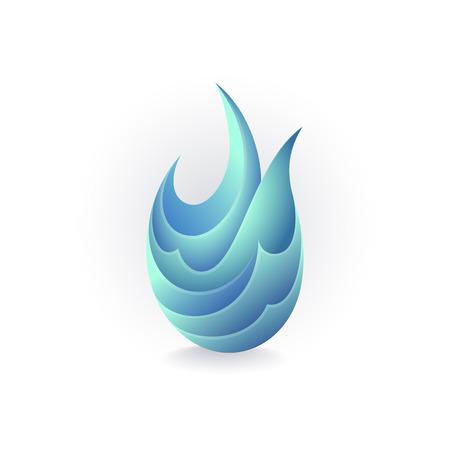 conceptual symbol: Water concept, isolated conceptual symbol, logo, logotype.