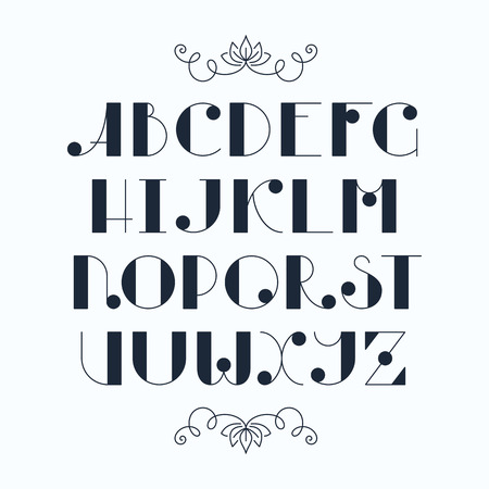 font: mecanografiado dulce elegante América. Las letras mayúsculas, fuente monocromática.