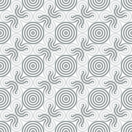 modernism: Circle lines seamless pattern, geometrical wallpaper.