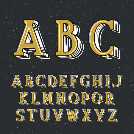 placards: Classical decorative serif font for lettering posters and placards. Vector retro latin typeface.