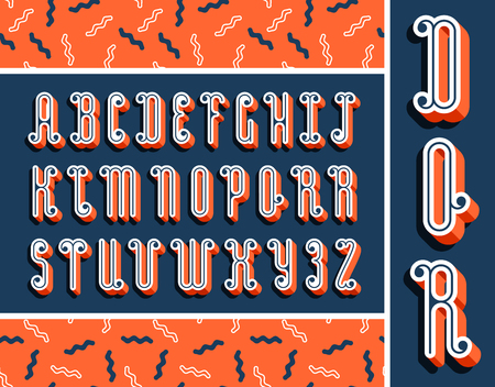 graphical: Graphical bright font with 3d effect shadow. Vector modern design typescript plus seamless pattern.