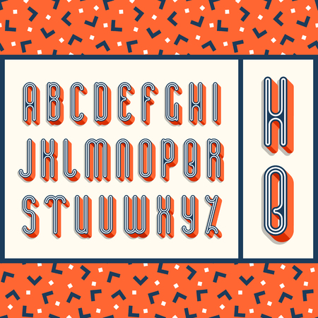typescript: Graphical bright font with 3d effect shadow. Vector modern design typescript plus seamless pattern (background).