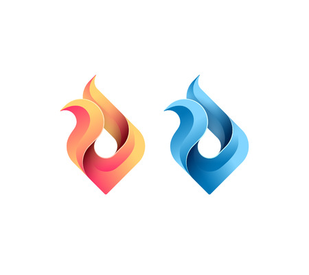 flame: Fire, flame, gas, energy concept, vector isolated conceptual symbol, logo, logotype. Illustration
