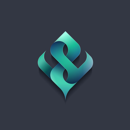 Feuille vecteur, la forme d'arbre vert. emblème abstrait, concept, logo, écologie logotype, nature, élément de l'environnement. Banque d'images - 56581745