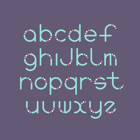 graphical: Line and circle latin font, graphical decorative color type.