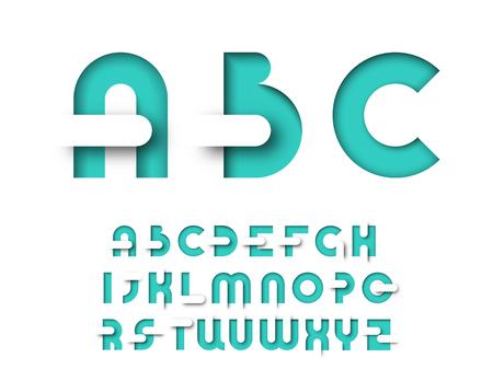 Mięta kolorowy graficzny typu układ. Wektor dekoracyjne alfabetu plakatów, reklam, czasopism.