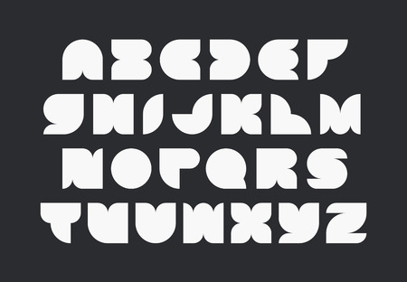 typeface: Geometrical shapes font, vector monocolor typeface of latin capital letters.