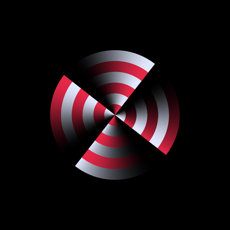 energy symbol: Abstract sign, symbol of sound, energy or rotation.