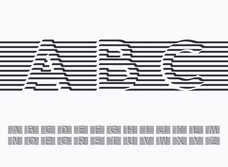 검은 색 이동 및 감싸 인 된 선 라틴 글꼴, 그래픽 드레이 퍼 장식 유형. 필요한 경우 단어로 결합하기 쉽습니다. 일러스트
