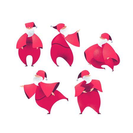 Santa Claus cartoon figures illustrations