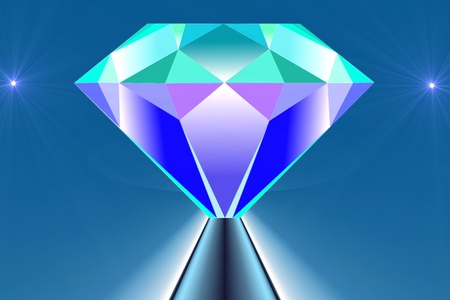 briliance: drawing of the diamond