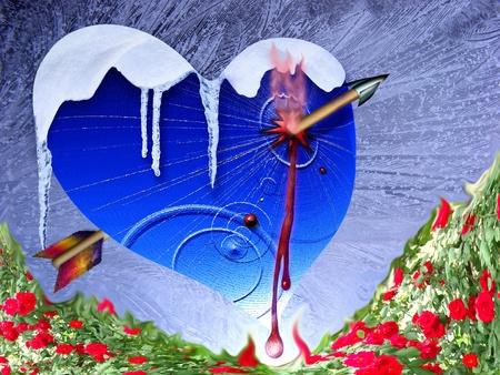 blazes: Icy heart and dart Amur Stock Photo