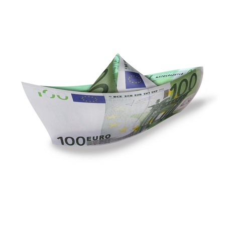 nave: photography with scene of the nave made from euro banknote Stock Photo