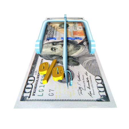 lending: illustration in stiletto of the metaphore about financial lending Stock Photo