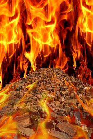abstrakcje: fotografia w sztylet z abstrakcjami ze sceny płomieniach kamienia drogowego