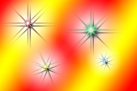 abstrakcje: ilustracja w sztylet z abstrakcji ze sceny gwiazdy kolorów