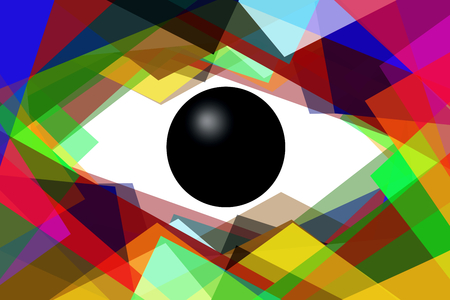 glance: illustration, abstraction, drawing, fantasy, eye, glance, look, background, geometry, figures, chaos, Stock Photo