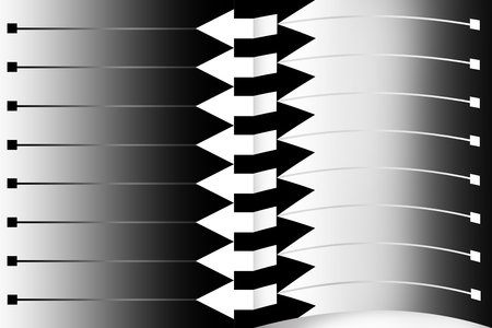 note pad: illustration with scene of the monochrome pattern in stiletto of the page of the note pad Stock Photo