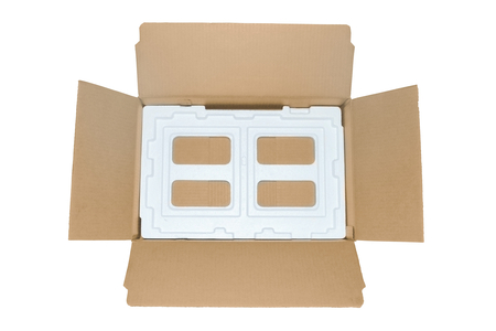 openning packing box from corrugated paperboard type overhand
