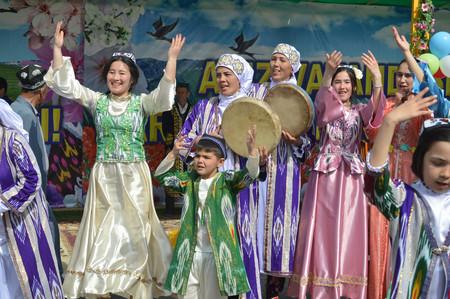 Jizzakh.Uzbekistan.March 2018. Holiday Navruz
