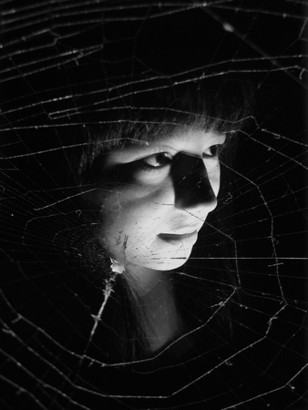 ghost and spider's web