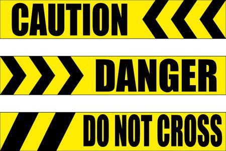 hazard warning tape vector illustration