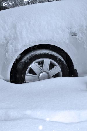 car wheel in winter