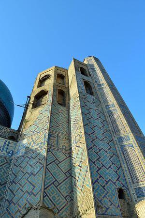 Samarkand. Uzbekistan. September 2019. The ancient architectural complex - Registon. Mosques, madrassas, minarets.