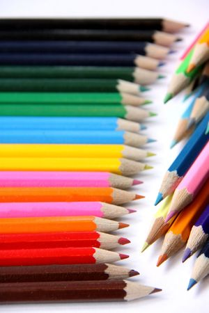COLOURED ART PENCILS Stock Photo - 5047770