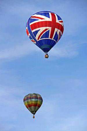 Colouful hot air balloons rising at the Bristol Balloon Fiesta, UK 8809