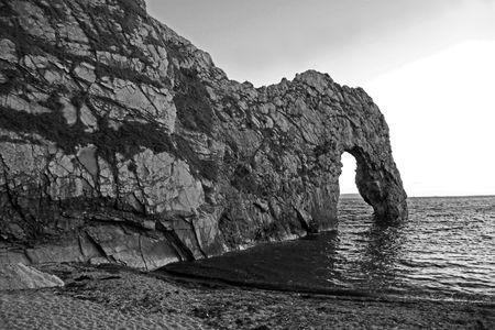 durdle: The Durdle Door rock arch on the Jurassic Coast near Lulworth South England