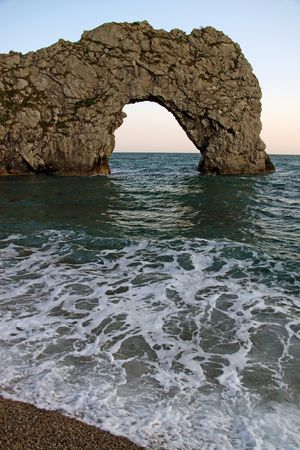 rock arch: The Durdle Door rock arch on the Jurassic Coast, UK