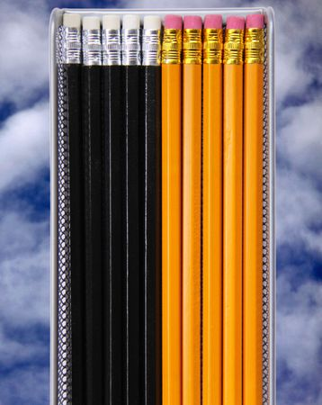 graphite: Graphite art  drawing pencils on sky background