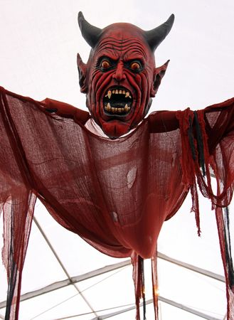 Scary Halloween red Devil  Demon