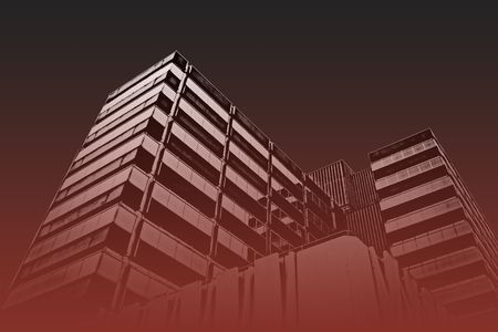 industry moody: Corporate city office blocks  buildings Stock Photo
