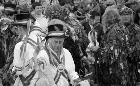 morris: Hastings UK, May 4th 2009, Morris Dancers at Jack In The Green Festival, May Day Weekend Editorial