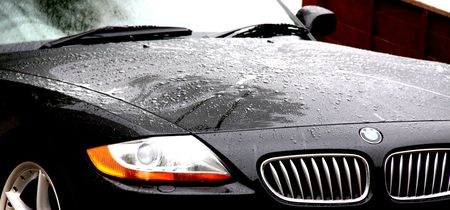 Purley, London, UK, June 20th 2009, BMW Z4 in the rain Editorial