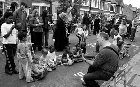 Balham, London, UK, May 16th 2009 typical British street party