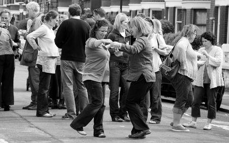 straat feest: Balham, Londen, UK, 16e mei 2009 typisch Britse straat partij
