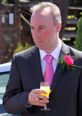 gretna green: Gretna Green, Scotland, May 24th 2009, Best Man at a wedding at the famous Gretna Green