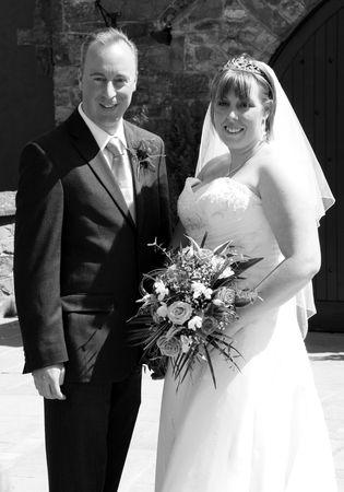 gretna green: Gretna Green, Scotland, May 24th 2009, Best Man and Bride at a wedding at the famous Gretna Green