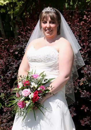 gretna green: Gretna Green, Scotland, May 24th 2009, bride at the famous Gretna Green Editorial