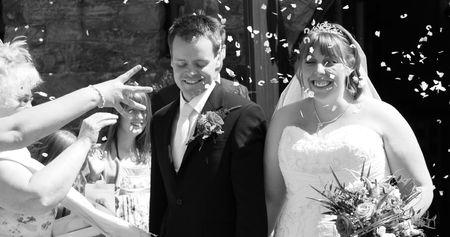 gretna green: Gretna Green, Scotland, May 24th 2009, bride and groom at the famous Gretna Green Editorial