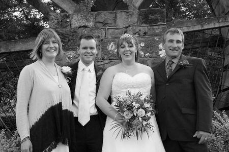 gretna green: Gretna Green, Scotland, May 24th 2009, bride and groom and family at the famous Gretna Green