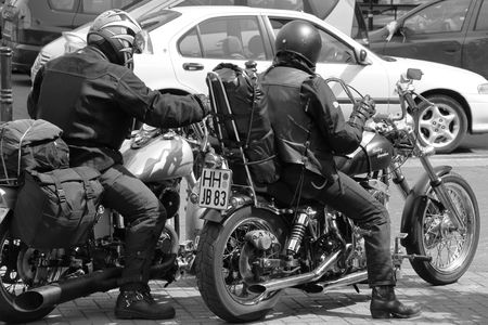 gretna green: Near Gretna Green, Scotland, May 25th 2009, bikers and motorcycles Editorial