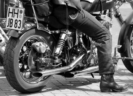 gretna green: Near Gretna Green, Scotland, May 25th 2009, biker on his motorcycle