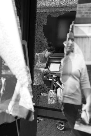 phonebox: Croydon, London, UK, October 7th 2009, vandalised BT British Telecom phone box