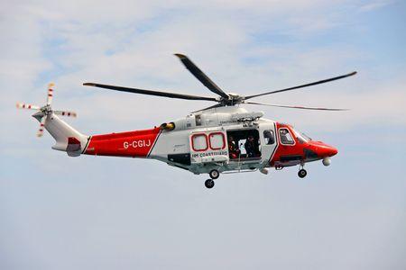 Worthing Pier, Worthing, UK, 28th June 2009 helicopter of the UK R.N.L.I. coastguard