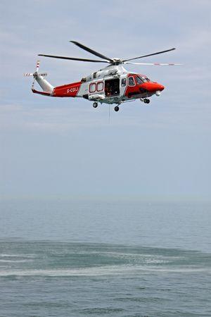 Worthing Pier, Worthing, UK, 28th June 2009 helicopter of the UK R.N.L.I. coastguard Stock Photo - 6886865